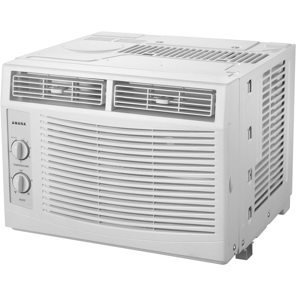 5 000 btu 115v window mounted air conditioner with mechanical controls amap050bw. Black Bedroom Furniture Sets. Home Design Ideas
