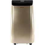 Portable Air Conditioner with Remote Control in Gold/Black for Rooms up to 250-Sq. Ft. - AMAP101AD