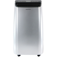 Portable Air Conditioner with Remote Control in Silver/Gray for Rooms up to 450-Sq. Ft.