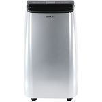 Portable Air Conditioner with Remote Control in Silver/Gray for Rooms up to 250-Sq. Ft.- AMAP101AW