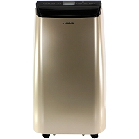 Portable Air Conditioner with Remote Control in Gold/Black for Rooms up to 500 -Sq. Ft.