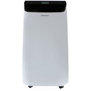 Portable Air Conditioner with Remote Control in White/Black for Rooms up to 250-Sq. Ft. - AMAP101AB