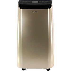 Portable Air Conditioner with Remote Control in Gold/Black for Rooms up to 450-Sq. Ft.
